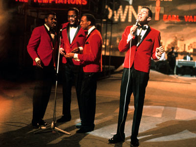 Legendary songwriter and producer Smokey Robinson, and his group the Miracles.